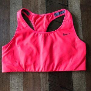 NWOT Nike Dri-fit Sports Bra, Neon Pink, racerback